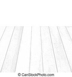 White wood floor plank on white background