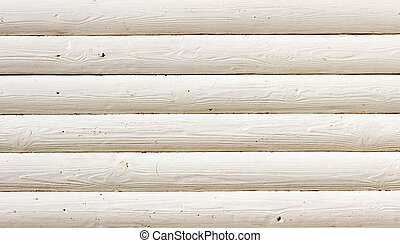 white wood log wall.