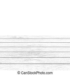 White wooden balcony floor on white background