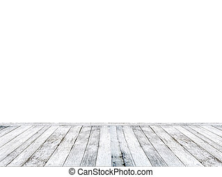 White wooden floor isolated on white background