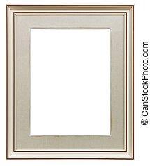 White wooden frame - White frame isolated