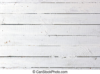 White wooden plank - Weathered painted white wooden plank