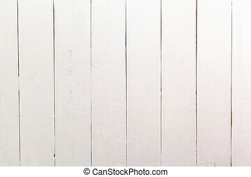 White wooden planks table - background