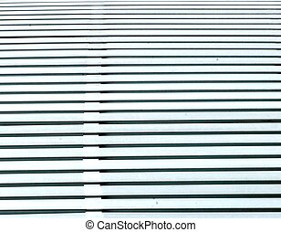 WHITE WOODEN SLATS - A close up of horizontal white wooden...