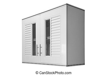 White wooden wall Cabinet isolated.