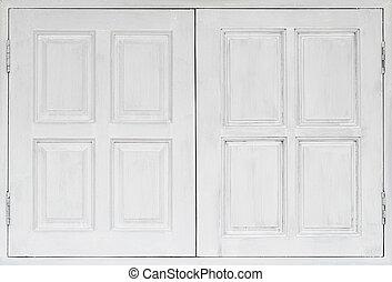 white wooden window background