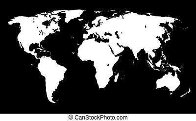 Black and white men pattern world map little men pattern white world map on black background gumiabroncs Images