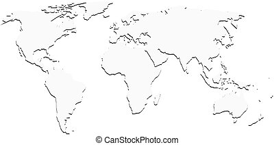 White world map blank vector with 3d shadow vector search clip white world map with shadow silhouette publicscrutiny Image collections