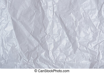 White wrinkled paper