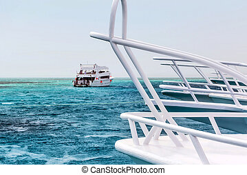 White yacht cruise marine adventure
