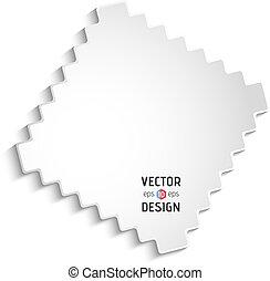 White Zigzag Frame - Vector Square Frame Banner. White...