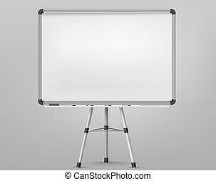 whiteboard, オフィス, 空, screen., 板, プレゼンテーション, markers., 予測, フレーム, 背景