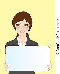 whiteboard, 女性