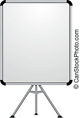 whiteboard 02 - detailed illustration of a blank whiteboard...
