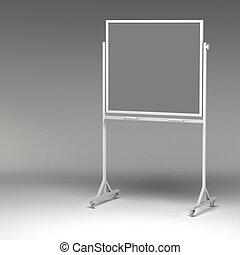 whiteboard, 3d, vuoto