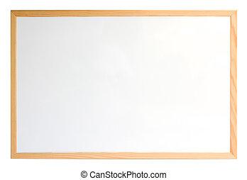 whiteboard, aislado, encima, blanco