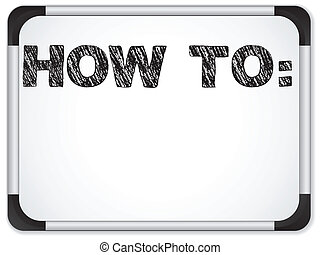whiteboard, con, cómo, a, mensaje, escrito, con, tiza