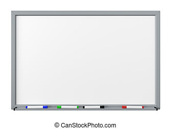 Whiteboard cutout - Blank Dry Erase White Board with Gray ...