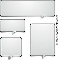 whiteboard, discorso, bolle