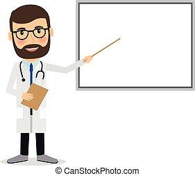 whiteboard., doctor