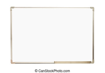 Whiteboard isolated on white background