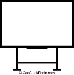 whiteboard, estante, interactivo