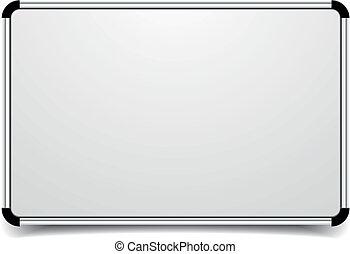 whiteboard - detailed illustration of a blank whiteboard,...