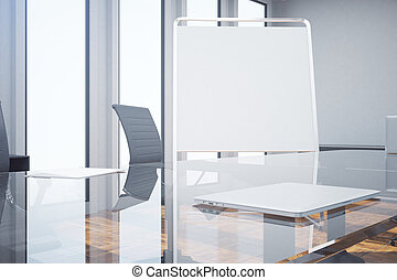 Whiteboard in meeting room closeup