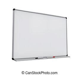 whiteboard, isolado, em branco