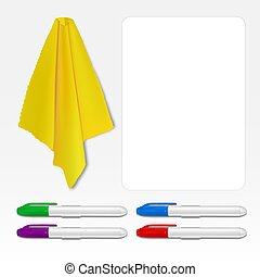 Whiteboard marker eraser - Set for sticking to the surface...