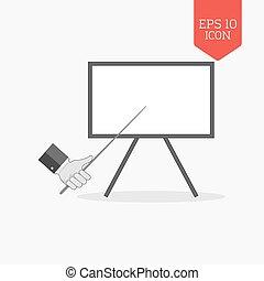 Whiteboard presentation concept icon. Flat design gray color symbol. Modern UI web navigation, sign.