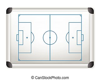 whiteboard soccer - Sport field plan on whiteboard.