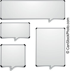 whiteboard speech bubbles - detailed illustration of...