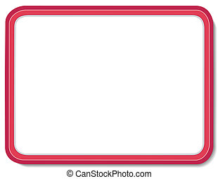 Whiteboard with Copy Space - Blank whiteboard with red...
