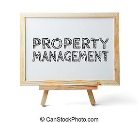 Property Management - Whiteboard with text Property...