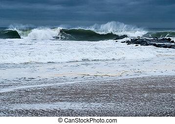 whitecaps , αφρός , θάλασσα