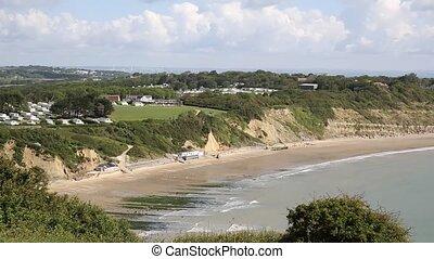 Whitecliff Bay beach Isle of Wight - Whitecliff Bay Isle of...