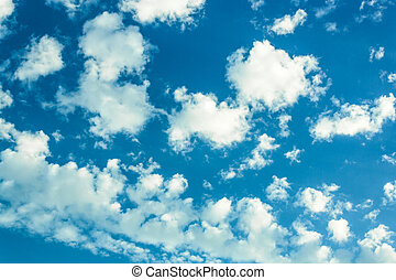 Whiteclouds in blue sky