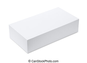 Whitel blank product box isolated on white