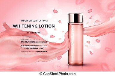 Whitening lotion ads
