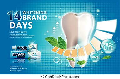 Whitening toothpaste ads