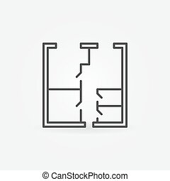 Whiteprint concept vector icon