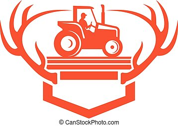 whitetail-deer-antler-tractor-side