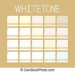 whitetone, apariencia el sonido
