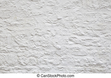 Whitewashed Wall - Rough textured whitewashed wall...
