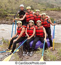 whitewater, 川, いかだで運ぶこと, チーム