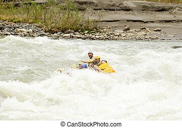 whitewater, 川, いかだで運ぶこと, 冒険