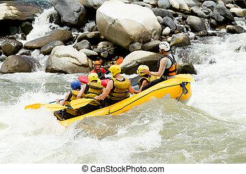 whitewater, 川, いかだで運ぶこと