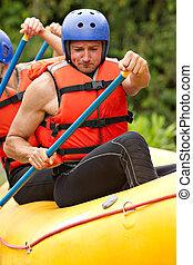 whitewater, 川, いかだで運ぶこと, 訓練