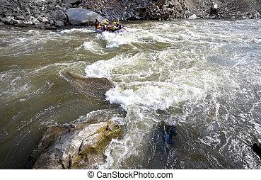 Whitewater, Fluß, wildwasserrafting